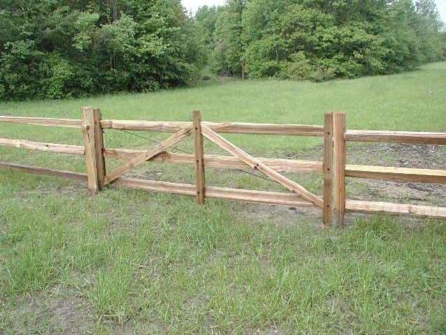 wood gates -end of the garden tractor gate