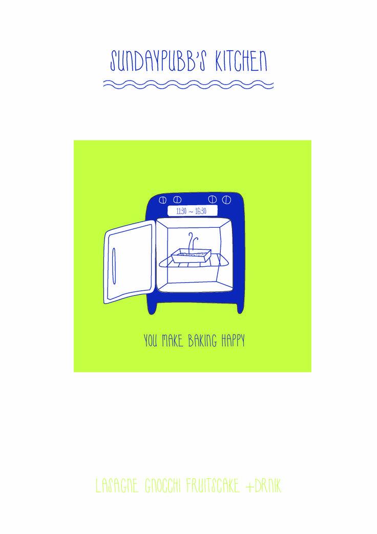 oven cook sundaypubb's brunch illust poster