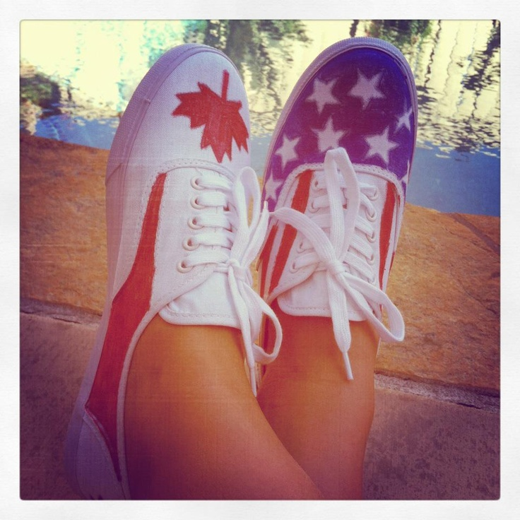 Representing #canadian #american Happy Canada Day and Fourth of July :)