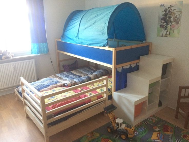 When you just don't have the luxury of space you make space. See how Bettina did it. http://www.ikeahackers.net/2017/02/making-bedroom-3.html