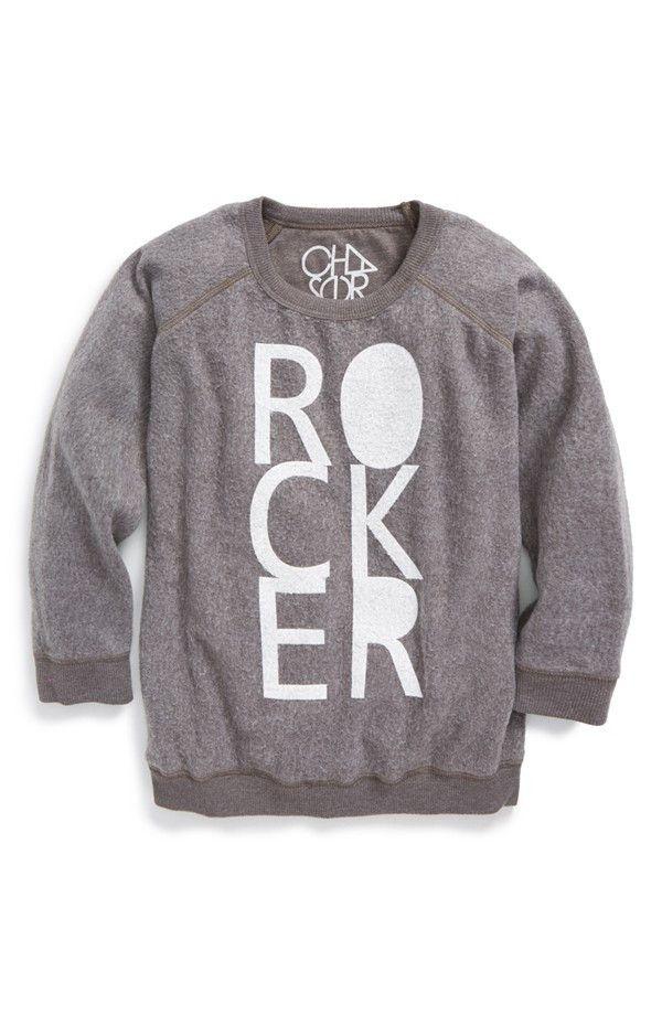 "Chaser ""Rocker"" Logo Graphic Sweater (Toddler Boys, Little Boys & Big Boys)"