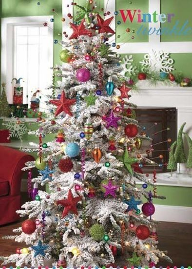 This website has 7 pages of decorated Christmas trees to look at, and to actually purchase the ornaments to recreate the look!!!