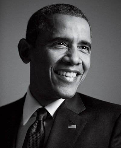 Black And White Portrait Obama