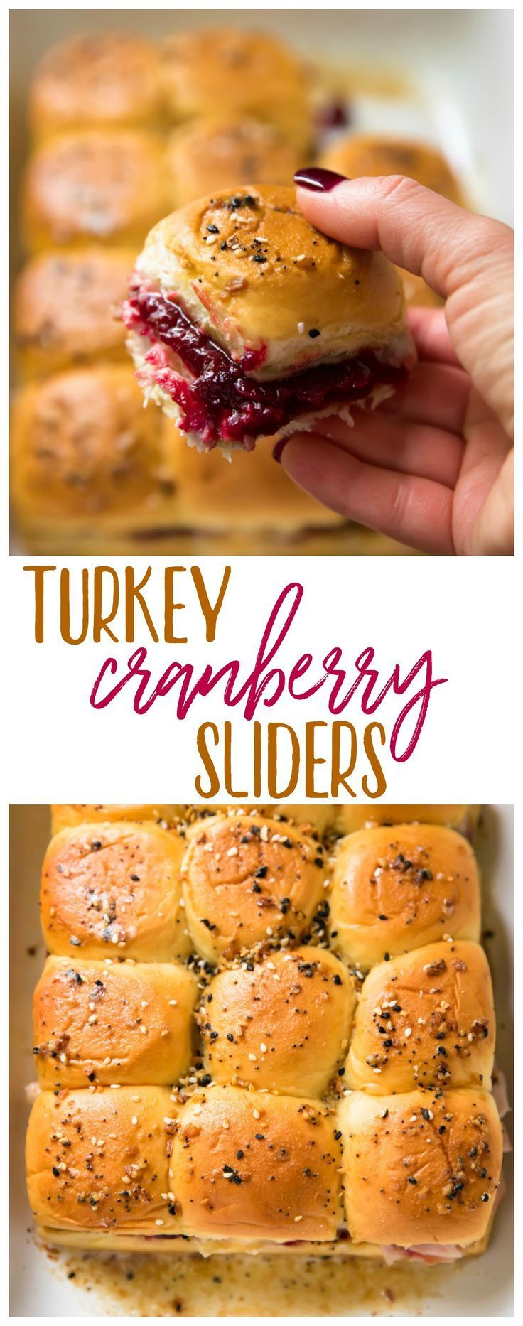 Turkey Cranberry Sliders are a quick and easy recipe to use up that leftover turkey and cranberry sauce from the holidays! Hawaiian rolls are loaded with turkey, cranberry sauce and your favorite cheese for a tasty lunch or dinner after the big meal. #ad #FallForFresh