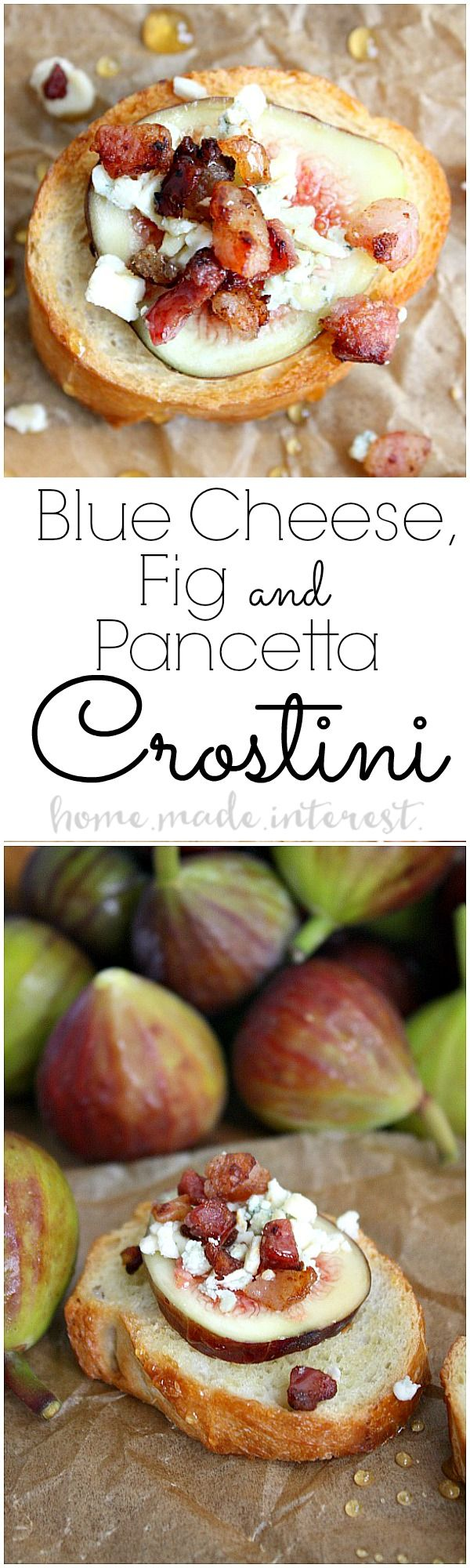 Blue Cheese, Fig, and Pancetta Crostini | Recipe | Simple ...