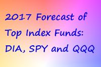 Forecast of Top Index Funds for Equities  2017 and Beyond – ETF Review and Outlook  for DIA, SPY and QQQ.  A rundown of the top index funds sets the stage for an orderly approach to forecasting and investing in the stock market. The leading benchmarks of the bourse are found in the Dow Jones Industrials, the S&P 500 giants, and the Nasdaq 100. The major milestones and likely moves for their exchange traded funds are mapped out for 2017 and beyond.