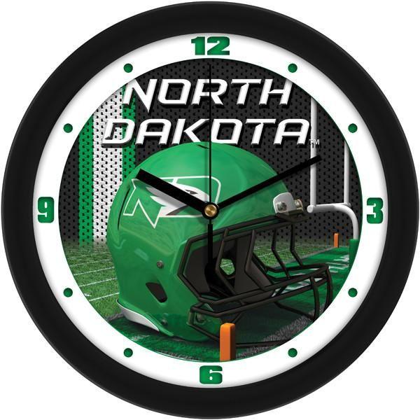 New - North Dakota Fighting Hawks-Football Helmet Wall Clock