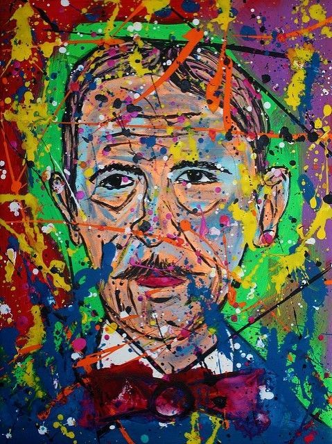 Juan Pablo Duarte, signed art print of original pop abstract portrait painting  #PopArt