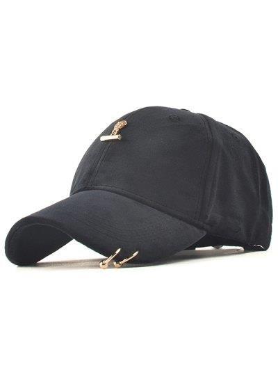 Gorra de béisbol ajustable Pleuche Anillo de Hierro