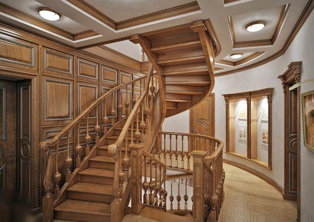 Глухая лестница массив