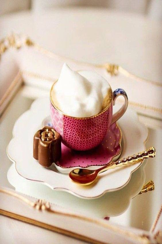 Elegance...coffee on white.