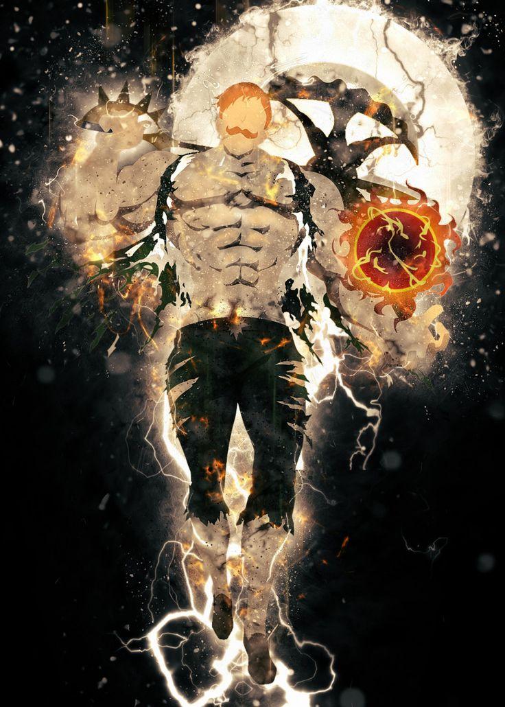 Escanor In Nanatsu No Taiz Poster Print By Trần Văn Dũng Displate In 2021 Anime Drawings Boy Anime Wallpaper Seven Deadly Sins Anime