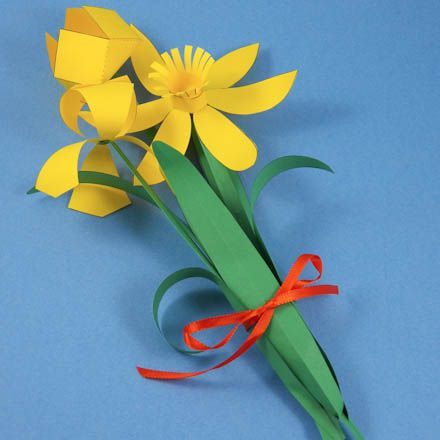 Make a Spring Flower Bouquet-with patterns to print!