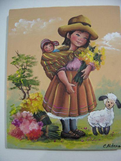 delcampe enfantys | Cholitas lindas del Peru Carmen Julia Aldana Malaga - Artelista.com