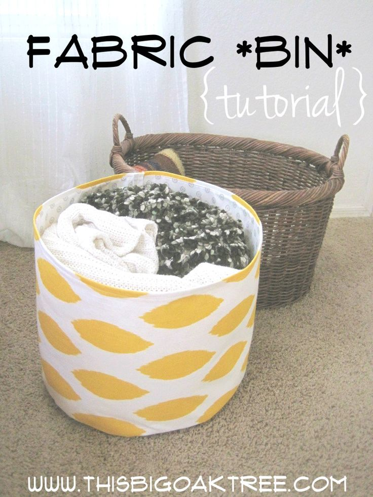 DIY Fabric Bins! Simple instructions. Easy to follow!