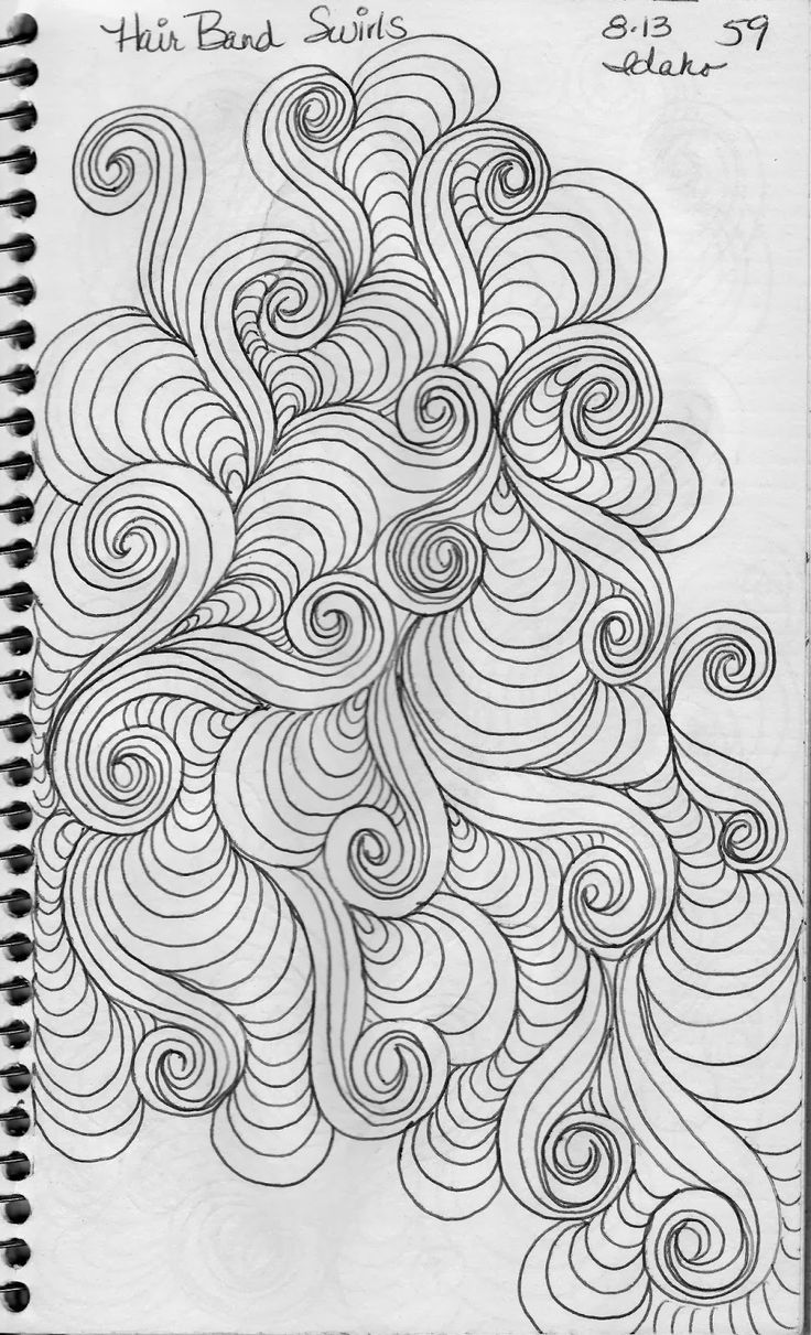 Sketch Book......Swirl Designs - May Your Bobbin Always Be Full