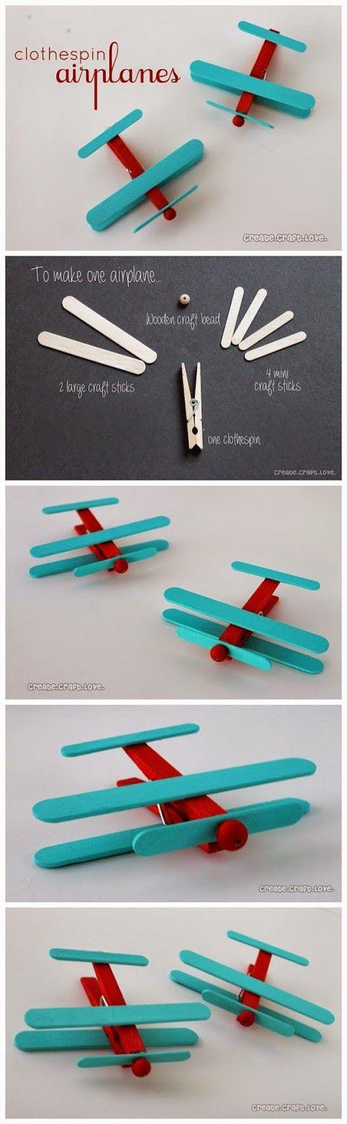 Okulöncesi Sanat ve Fen Etkinlikleri: Mandallar ile Buzdolabı Süsü Uçak Yapımı
