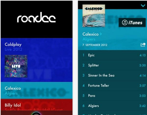 Best Album Release App: Roadee for iPhone - http://appchasers.com/2013 ...