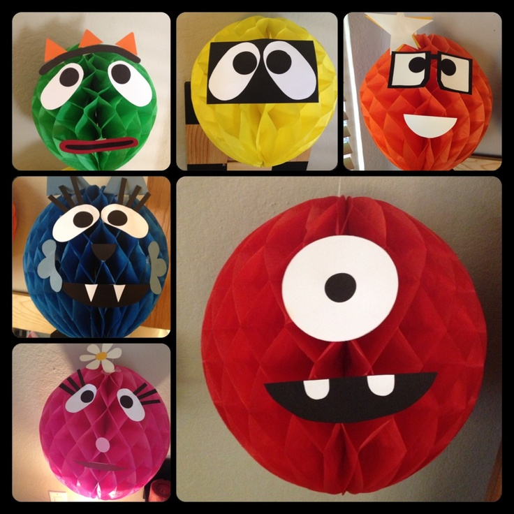 Yo Gabba Gabba Honeycomb Heads for my daughters 2nd Birthday Party. Themed creative decor made her birthday party THAT much more special!