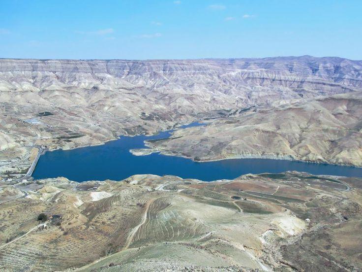 The Mujib Dam in Wadi al Mujib between Madaba and Karak was finished in 2004. It provides part of the water supply of Amman, Jordan.