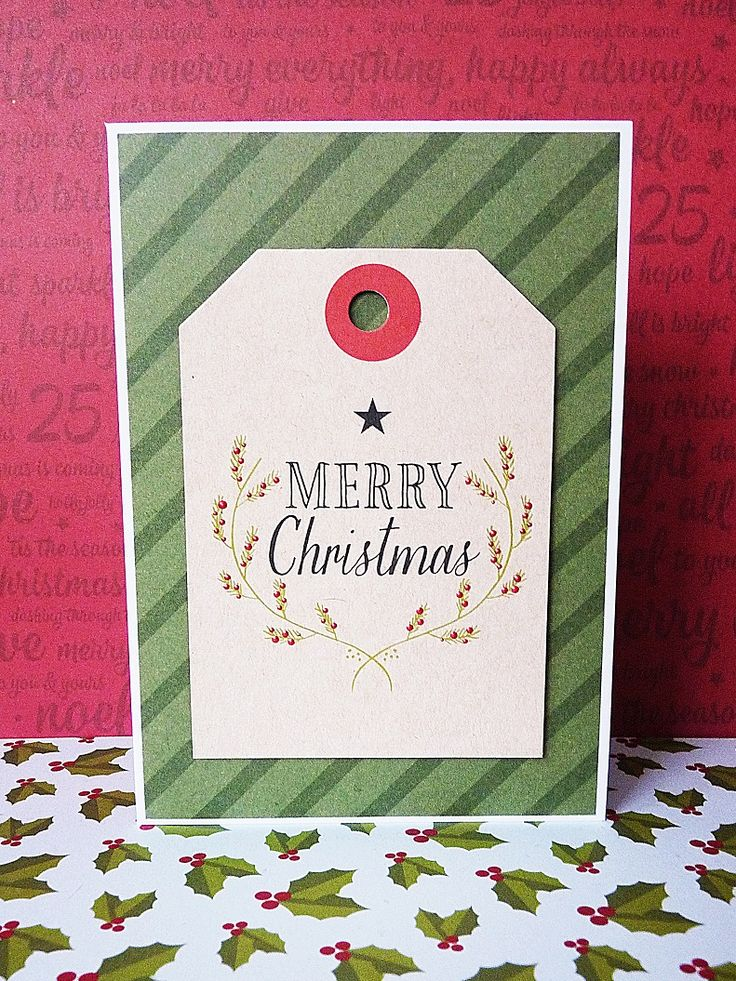 merry christmas green card || shimelle christmas magic & pink paislee merry and bright