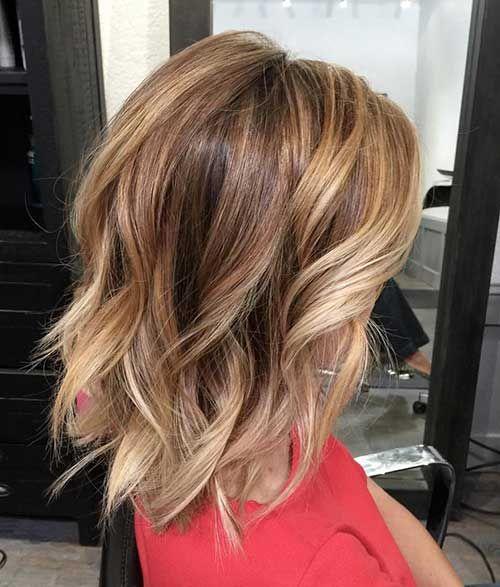 Kurz Mittel Balayage Haarschnitte