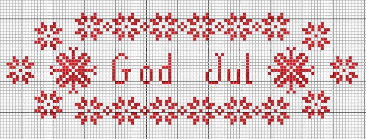 God Jul - Cross Stitch Pattern #christmasdiy