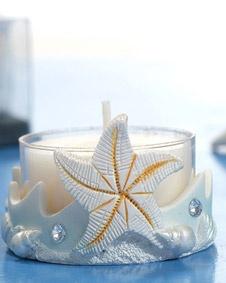 Starfish Candle Holder Blue Color. http://www.bluerainbowdesign.com/WeddingFavorProduct.aspx?ProductID=PR072607174759JeNRwSgYKeloBRD20206=WEDDI=GROUP=WCAND