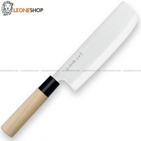 """Professional Japanese NAKIRI Chopping Knife by FOX Italy, Japanese kitchen knives with blade of AISI 420JS stainless steel satin finished - HRC 54/56 - Blade lenght 6.9"""" - Japanese Knives with the Maple Wood handle as the grand tradition of Japan - FOX Italy Professional Japanese kitchen knife, a truly exceptional product with quality materials and an excellent design, guarantee of elegance in your kitchen."""