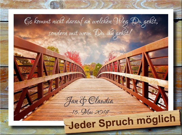 Brücke zum Liebesweg * Ein romantische Brücke in bunter Paradieslandschaft führt zum Liebesweg hin. Spruch, Namen und Datum werden individuell eingedruckt. Ein tolles Geschenk zum Aufhängen z.B. als Liebesbeweis oder zum Valentinstag. Eben ein wunderbares Geschenk für den Partner, dem Freund bzw. der Freundin.