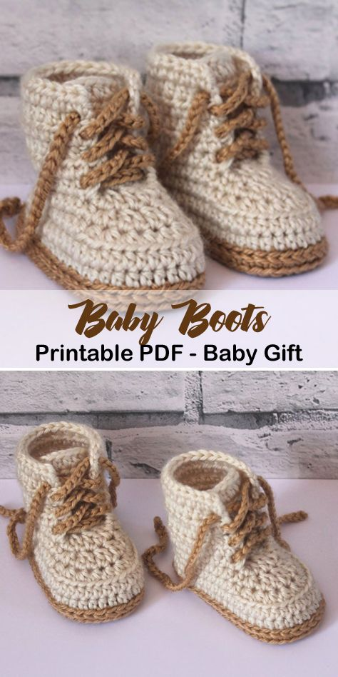 Make a cute pair of baby boots. baby boots crochet patterns – baby shoes crochet…