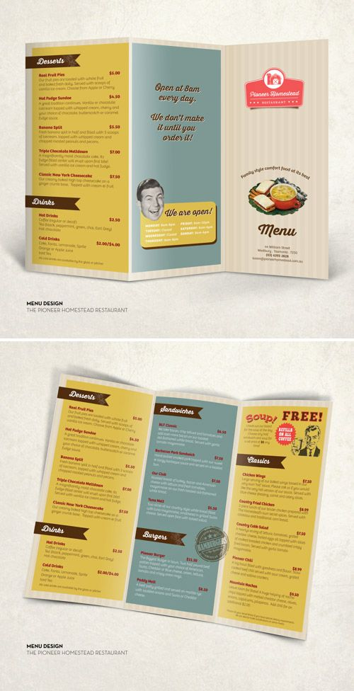 Best Brochure Images On   Print Templates Menu