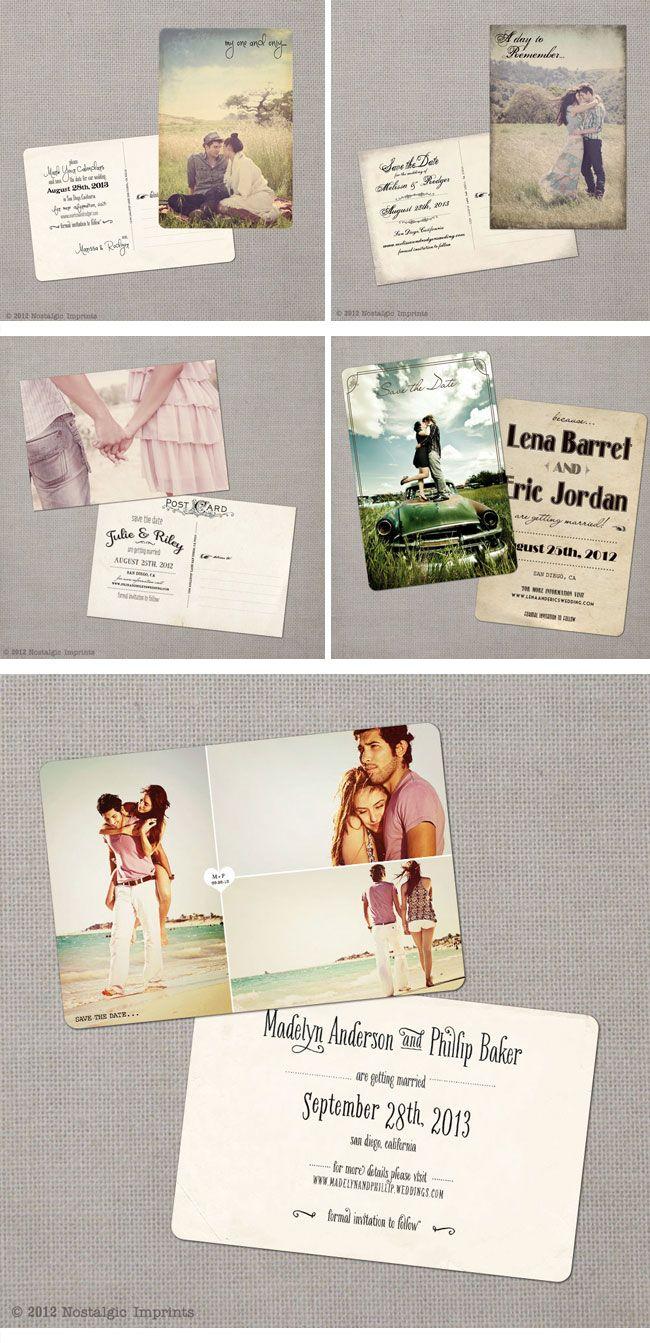 Nostalgic Imprints, Vintage Hochzeitseinladungen, Vintage Wedding  Invitations. Einladungen HochzeitstagVerlobungHeiratenHochzeit ...