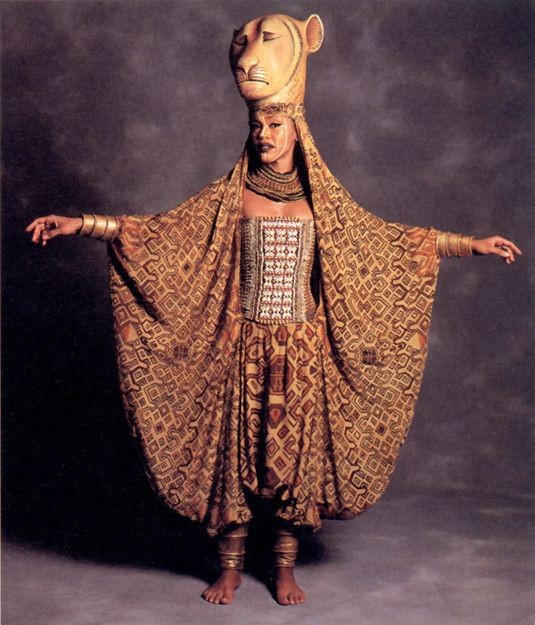 The Original Broadway Cast of Disney's The Lion King ~ Sarabi ~ The combination of the puppetry along with their facial makeup and outfits is stunning.