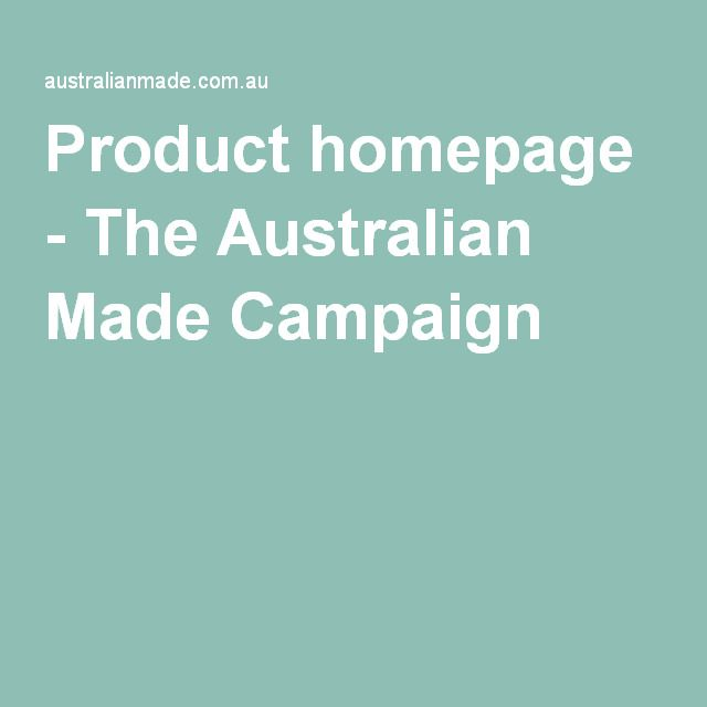 Product homepage - The Australian Made Campaign