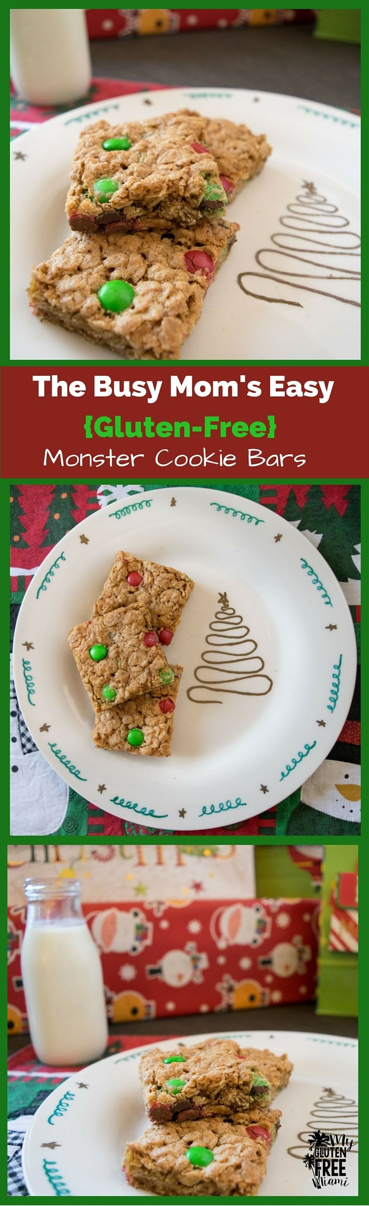 For those who want a delicious a gluten-free treat full of peanut butter, oats,  and chocolate, but don't have all day to spend in the kitchen, these are the perfect cookies. #glutenfree via @glutenfreemiami