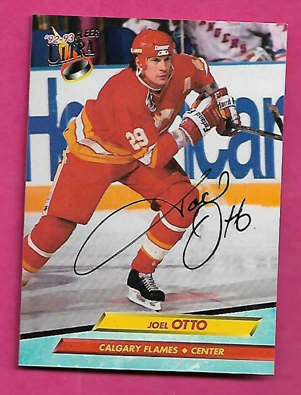Calgary Flames Joel Otto Ice Hockey Card
