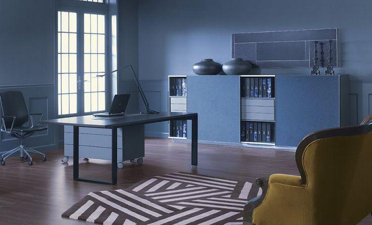 Nowoczesne biurko gabinetowe. Z nowoczesnej kolekcji mebli gabinetowych ze strony: http://www.arteam.pl/kolekcja/meble-gabinetowe/mixt/