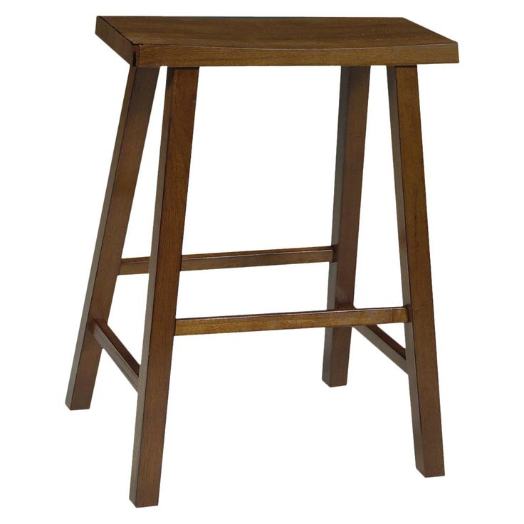 Saddle Seat Stool - Rustic Oak