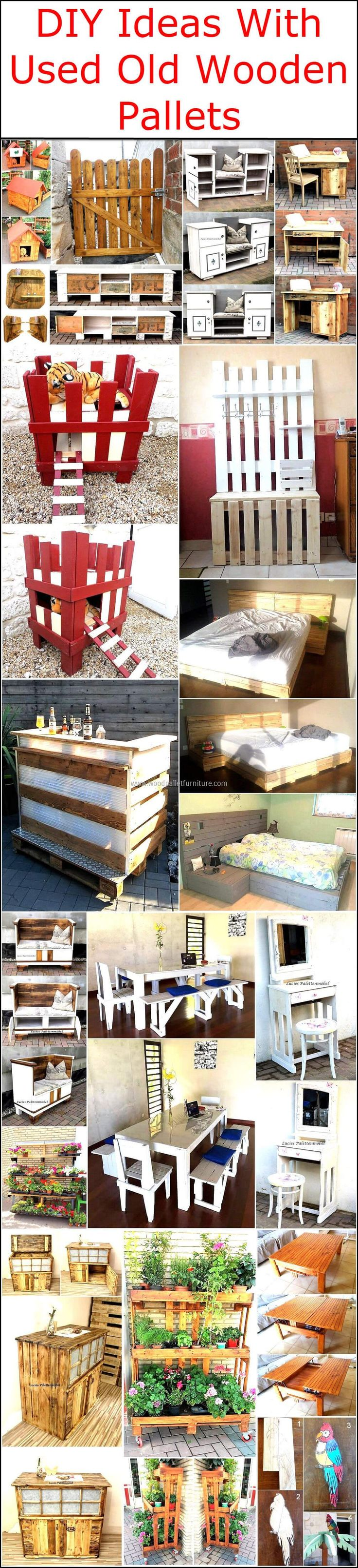 Wooden transport pallets have become increasingly popular for diy - Diy Ideas With Used Old Wooden Pallets