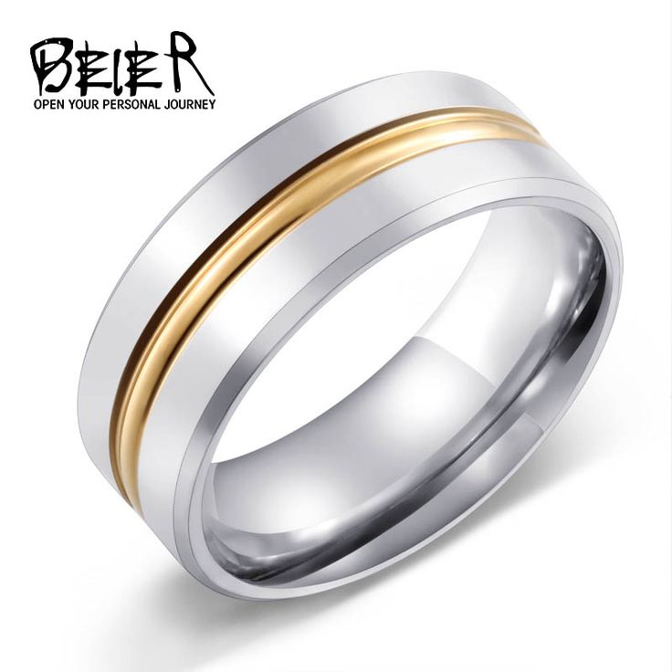 Unique Design  Plated Gold Man Ring stainless  steel Fashion Party Jewelry BR-R015