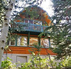 UPDATED COZY CABIN NESTLED IN THE TREES, CLOSE TO SOLITUDE $150 a night. minimum stay 3-5 nights, for 2 adults and one child, including all fees it costs approx. $993.5 for 3 days It is located between Solitude and Brighton ski resorts.