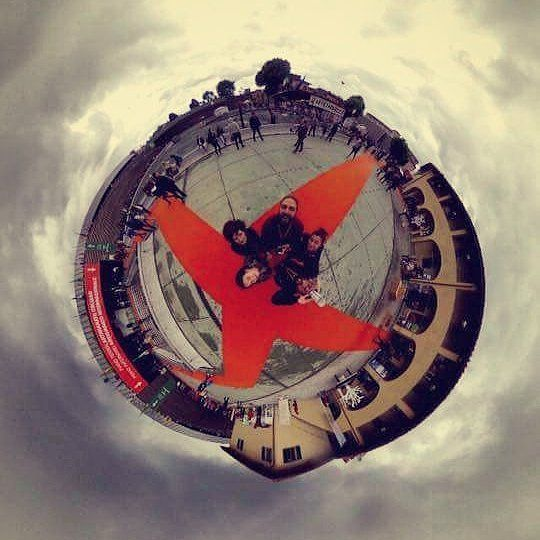 We are landed on a new #littleplanet at #mostrart2016 http://ift.tt/1T8nSd3  #theta #360photography by studioripresefirenze