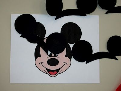 Love to be in the Kitchen: Mickey Mouse Party  Pin the ears on Mickey.  For Minnie could do bow.