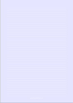 Narrow ruled paper with white lines on a light blue background. This type of paper can be helpful for people with special needs such as dysgraphia and dyslexia or scotopic sensitivity that makes white paper appear too bright. Free to download and print