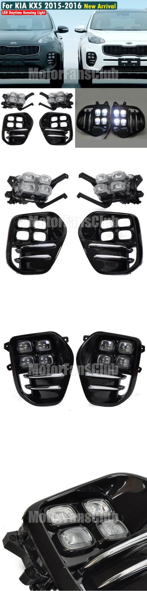 Motors Parts And Accessories: Drl For Kia Sportage Iv Kx5 2016 2017 Led Daytime Running Light Driving Fog Lamp -> BUY IT NOW ONLY: $165 on eBay!