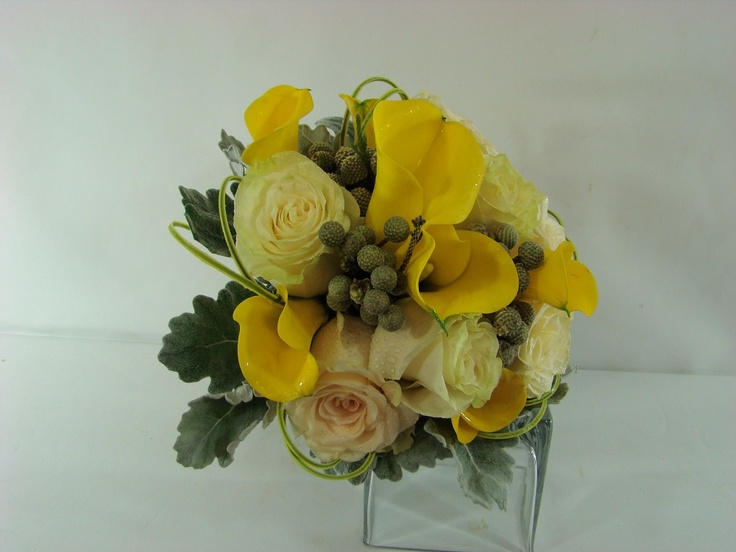 Bridal Bouquet with calla lilies and roses.  Created by: Plush Flowers  www.plushflowers.ca