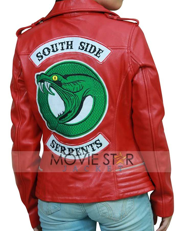 Riverdale Cheryl Serpent Red Jacket is available at the reasonable price  with back Snake Serpents Logo – Visit for Riverdale Southside Snake Serpents  Red ... 211708fc5d4