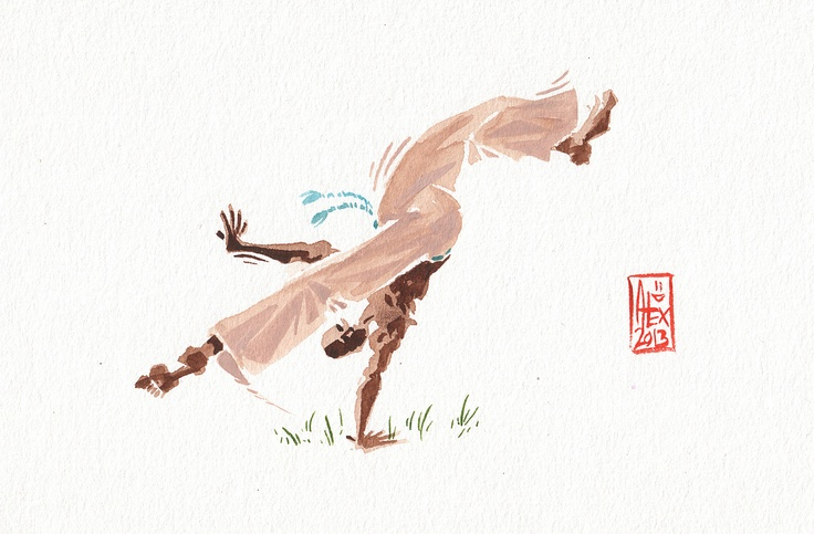 What an artist. Strongly recommend to check out his work!!!Encres : Capoeira - 292 [ #capoeira #watercolor #illustration]