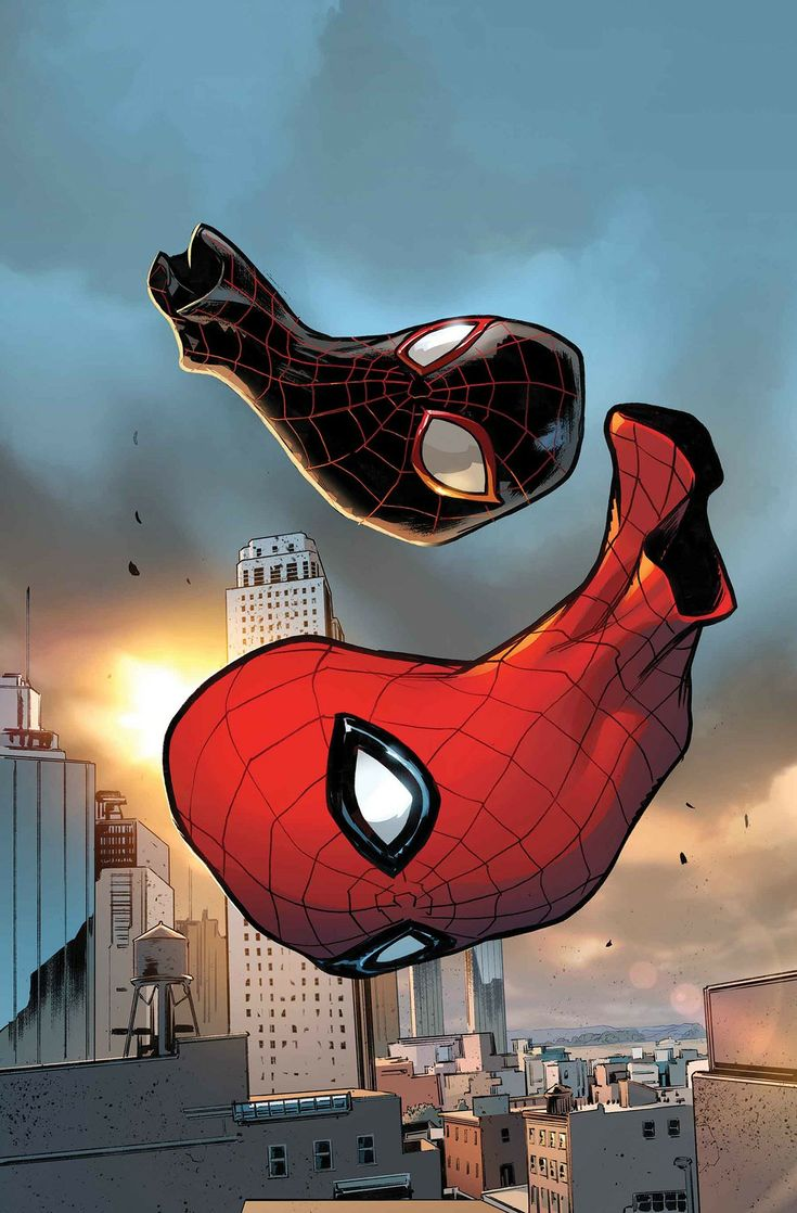 Peter PARKER (SPIDER-MAN) and Miles MORALES (SPIDER-MAN)   Earth 616 and 1610   PORTFOLIO: Spider-Verse